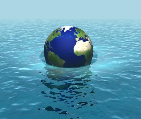 levels: De stijgende zeespiegel, overstromingen, planet zinken Stockfoto