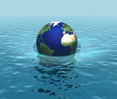 rising: Rising sea levels, flooding, planet sinking