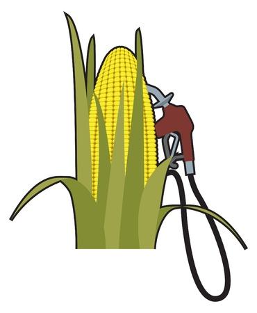 ethanol: Biofuels, alternative fuels, recycling Illustration