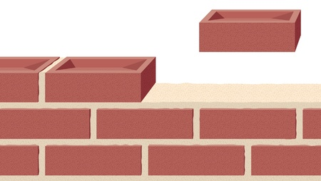 Building a strong foundation, another brick in the wall Vector