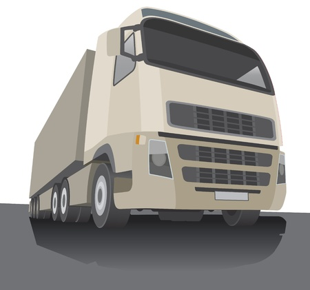 Stylised lorry  Vector