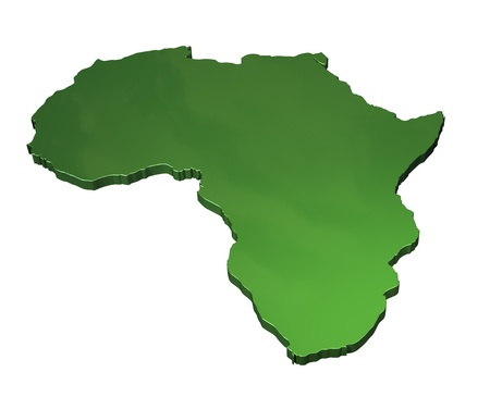 africa maps: A 3D map of Africa