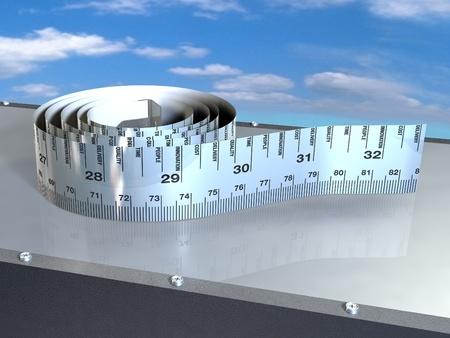 Measuring business efficiency ruler photo