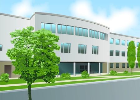 devanture: Office de fa�ade courbe, centre d'affaires