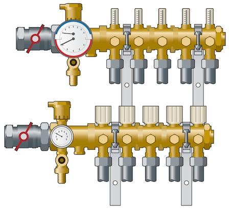 Verwarming manifolds en meters
