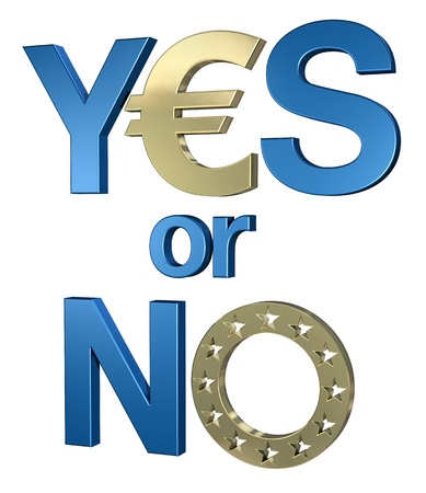 Yes or no to euro 1 Stock Photo - 13409775