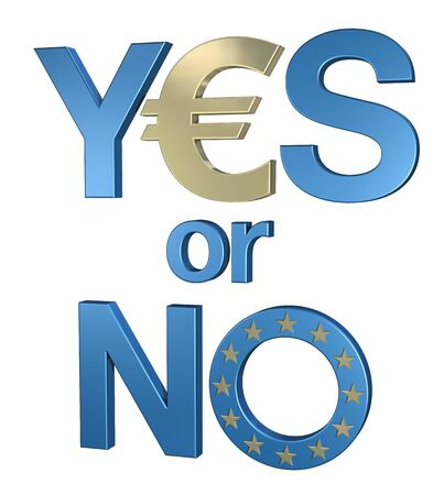 Yes or no to euro 2 Stock Photo - 13409772