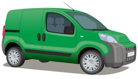 Ecológico camioneta verde Ilustración de vector