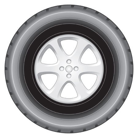 Allow wheel and tyre elevation Vector