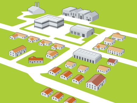 Generic township Stock Vector - 13477028