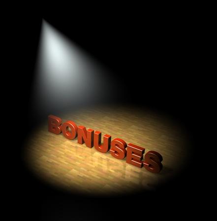 Spotlight on bonuses Stock Photo - 13477061