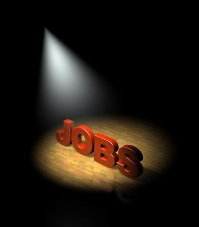 Spotlight on employment, jobs market Stock Photo - 13477057