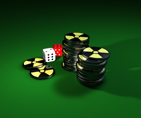 Nuclear gamble, risk factor Stock Photo - 13477062
