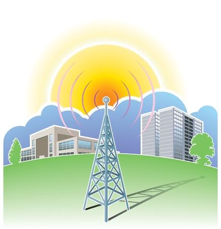 Draadloze communicatie, radio mast