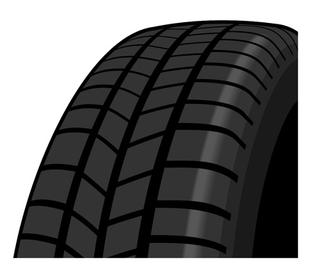 Tyre detail showing tread pattern Vector