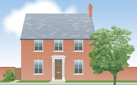 detached house: Modern detached house elevation