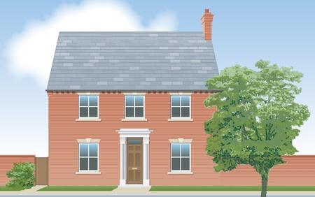 elevation: Modern detached house elevation