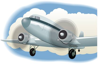Retro style early aeroplane Stock Vector - 13477252
