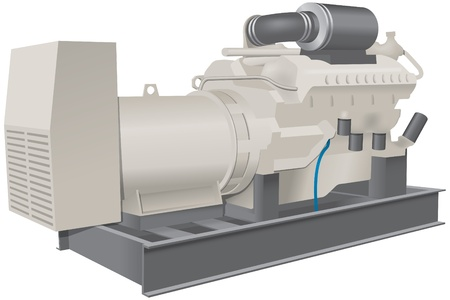 bomba de agua: Bomba de gran tama�o para uso industrial Vectores