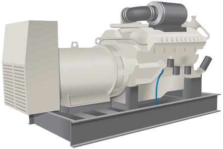 idraulico: Grande pompa per uso industriale Vettoriali