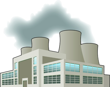 nuclear plant: Power station Illustration