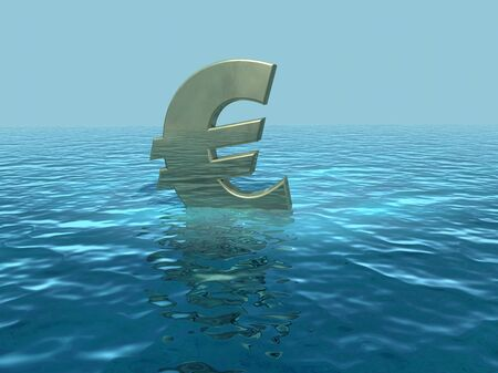 The euro adrift, European economy in trouble Stock Photo - 13532685