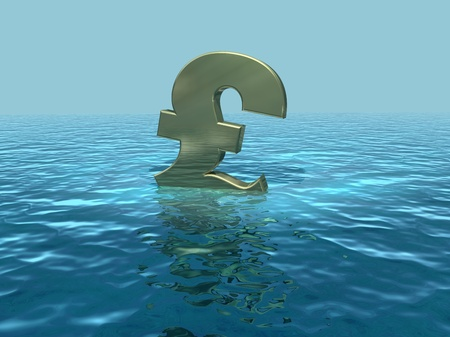 plunging: The pound adrift, British economy in trouble