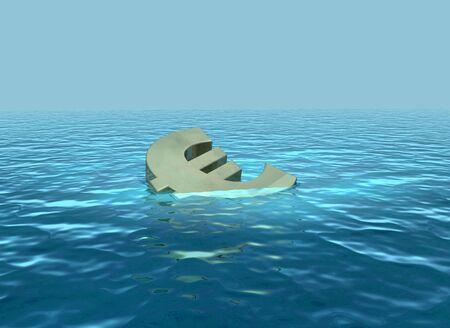 The euro sinking or struggling economy photo