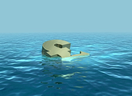 struggling: The pound sinking or struggling economy