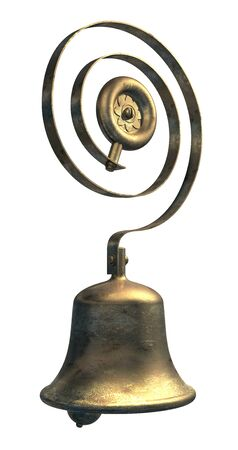 Service or servants bell in brass or bronze Stock Photo - 13532680