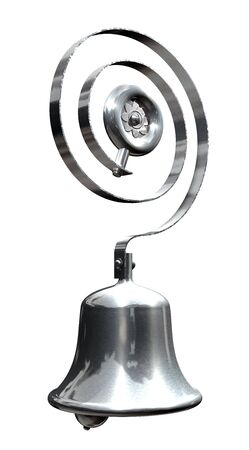 Service or servants bell in steel or chrome photo