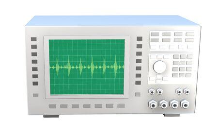 Oscilloscope on white background