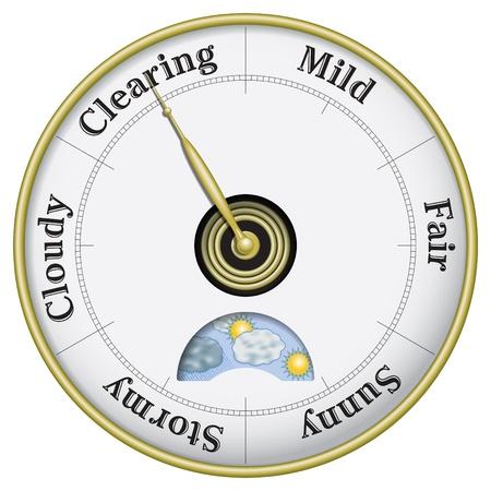 예측: 비즈니스와 날씨 전망 기압계