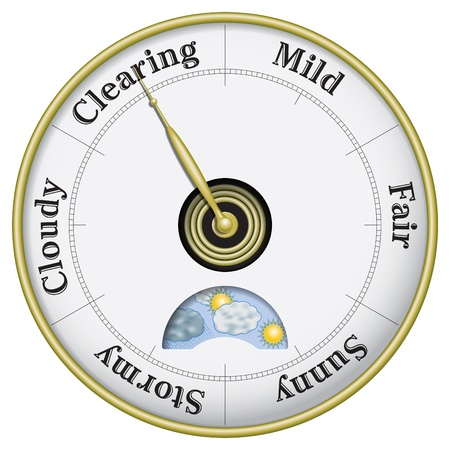 clearing: Business and weather outlook barometer