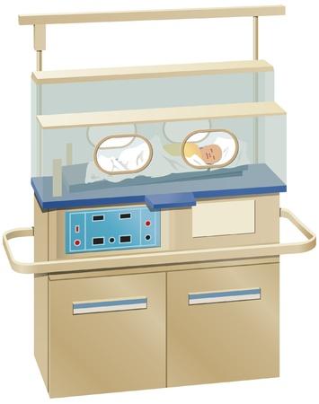 Baby incubator Vector