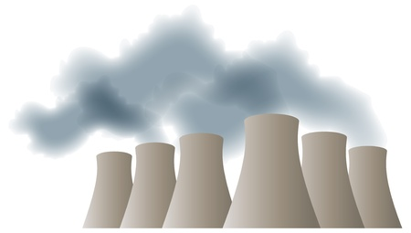 electric generating plant: Cooling towers Illustration