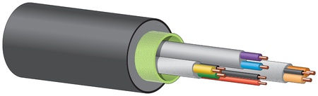 capacitor: Electrical cable, wires Illustration