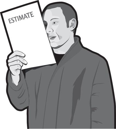 budget repair: Man reading estimate