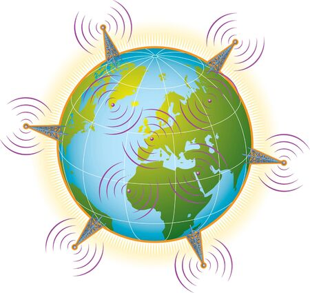 Global wireless communications Stock Vector - 13598451