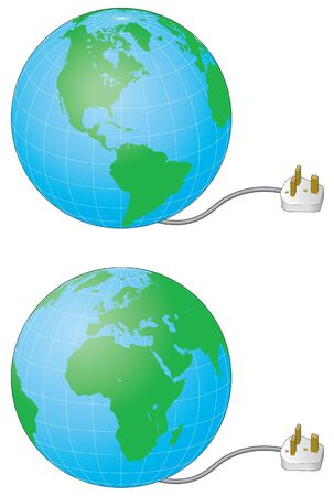 Climate control, power consumption, powering the world Stock Vector - 13598449