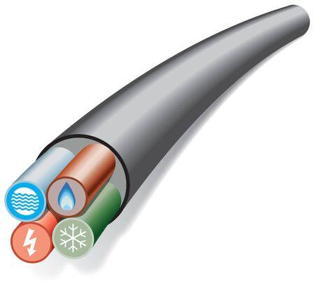 Dom i biuro usług kabel Ilustracje wektorowe