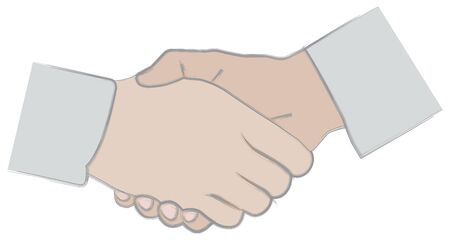 linked: Shaking hands Illustration