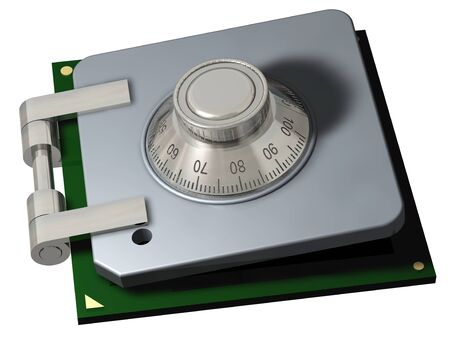 Lockable chip, computer security Stock Photo - 13598474