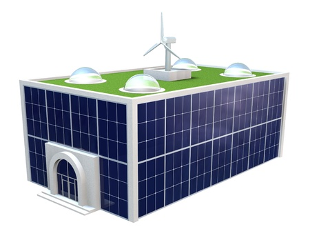 Umweltfreundlich, Fabrik, Büros, grüne Energie Standard-Bild