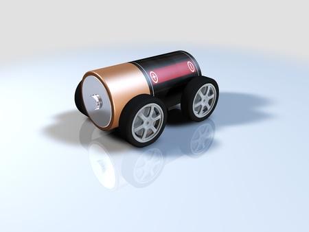 battery powered car, alternative energy electric car photo