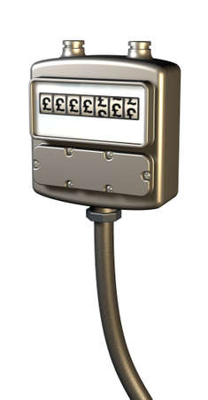 fuel provider: Gas prices meter in pounds Stock Photo