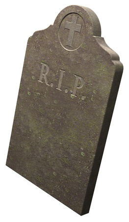 Gravestone, RIP, tomb on white background photo
