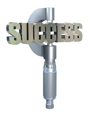 gauging: Micrometer measuring success Stock Photo