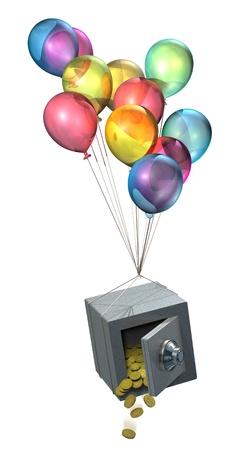 flyaway: Safe and balloons, savings disappearing