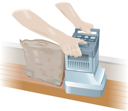 Floor edge sander Stock Vector - 13703929
